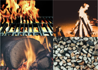 firewood collage